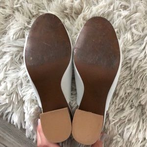Who What Wear Shoes - Who what wear sz 7 white block heel mules